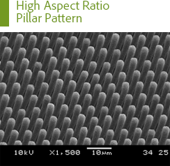High Aspect Ratio Pillar Pattern