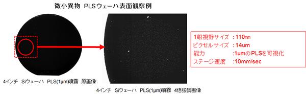 微小異物PLSウェハー表面観察例