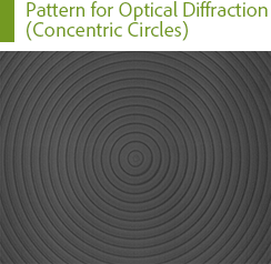 Pattern for Optical Diffraction (Concentric Circles)